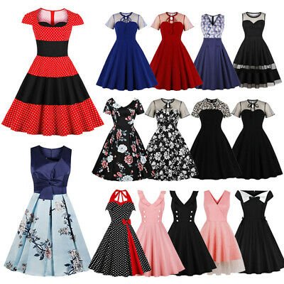 UK WOMENS BUTTON Vintage 1950s 60s Rockabilly Evening Prom ...
