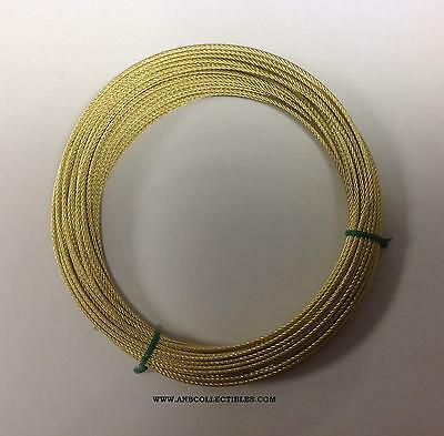 HER-50 Herschede Grandfather Clock Cable 50 Feet Brass NEW