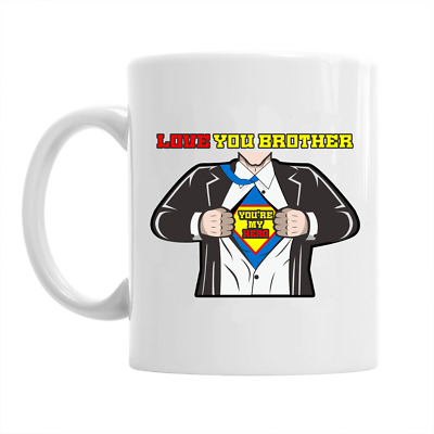Brother Novelty Gift  Mug Present  Love Cup For Birthday Funny Personalised Best
