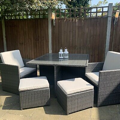 Rattan Garden Furniture Set 4 8 Seat With Gl Table