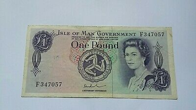 Old Isle Of Man £1 One Pound Banknote