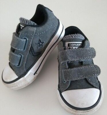 Converse All Star Infant Low Top Grey Suede Trainer Shoes Kids Uk 3 Eur 19