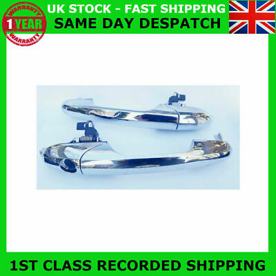 Pair Fit 500 Pop Cc Lounge Abarth Left&Right Chrome Outer Door Handle Rhd-Uk
