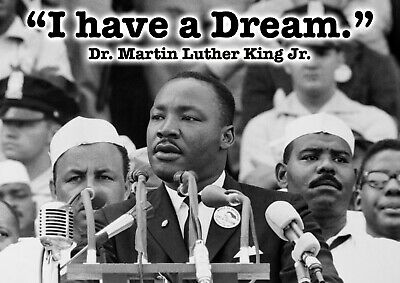 Martin Luther King Poster A4 - #2 - Icon - Famous quotes print (210mm x 297mm)