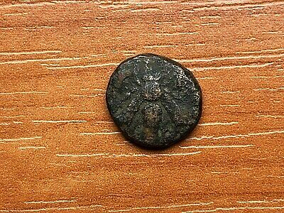 "Ephesos, Ionia 387-289 BC AE12 ""Bee & Forepart of Stag"" Ancient Greek Coin"