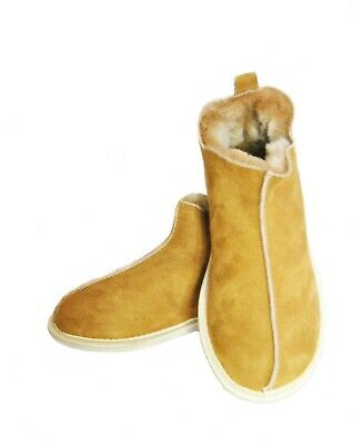 Natural Warm Cozy Leather CANDY Wool Sheepskin Fur Slippers Boots PERFECT GIFT