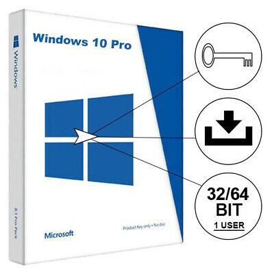Windows 10 Professional Produkt Key Vollversion 32+64 BIT Win 10 Pro Schlüssel