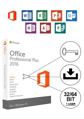 Microsoft Office Professional Plus 2016 Key Schlüssel MS Office 2016 Pro ONLINE