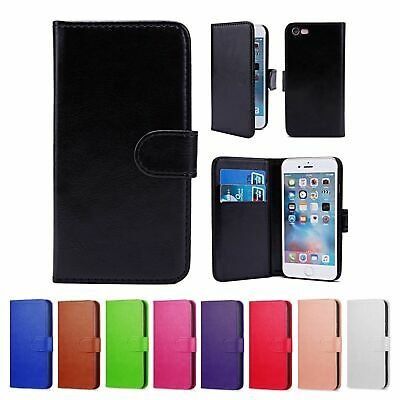 For iPhone 6S & 6 Case Luxury Real Genuine Leather Magnetic Flip Wallet Cover