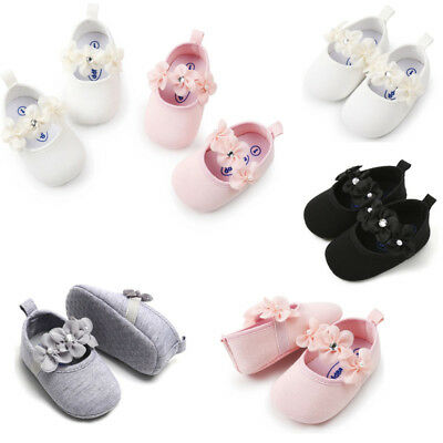 Newborn Toddle Baby Girl Pearl Sneakers Toddler First Walkers Kids Cloth Shoes