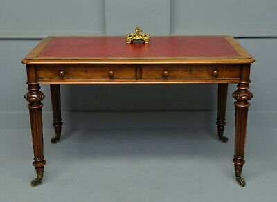 Fine Early Victorian Walnut Writing Table-C Hindley & Sons
