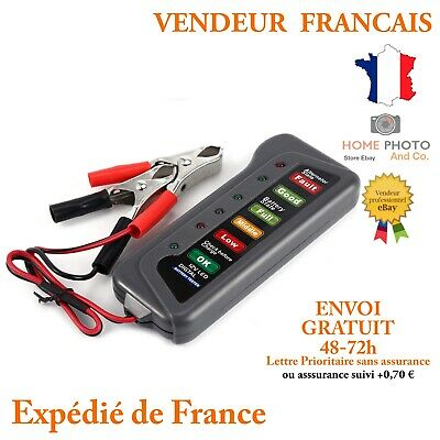 TIROL 12V Testeur de Batterie Alternateur Avec 6 LED Indicateurs Condition