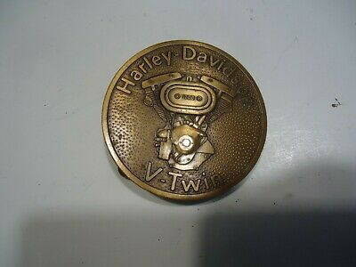 Harley Davidson vintage belt buckle v-twin engine 1200