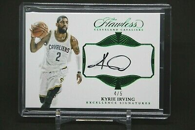 b407dbf83ad4 2016-17 Panini Flawless KYRIE IRVING Excellence Signatures auto green  4 5