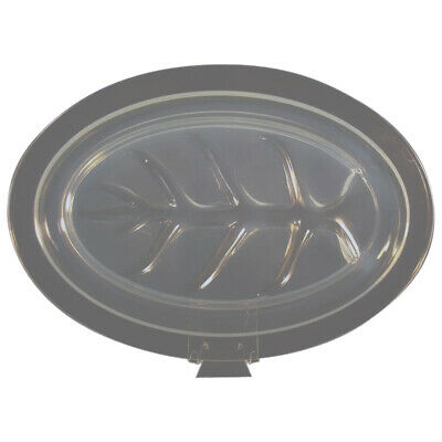 Large Fry Opalescent Glass Meat Tray