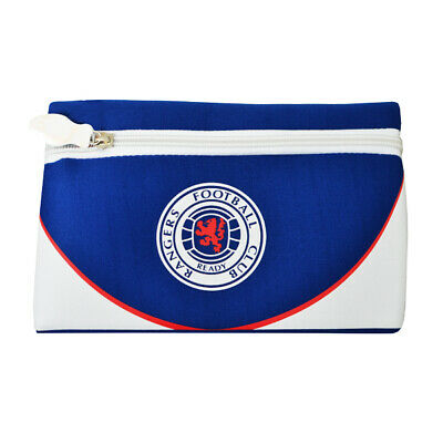 Rangers Flat Pencil Case Official Football Club Crest FC School Gift Swoop New