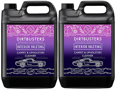 Dirtbusters car valeting carpet upholstery cleaning solution cleaner shampoo 2x5