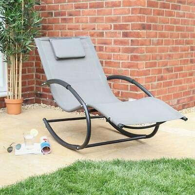 Wido ROCKING SUN LOUNGER GARDEN FURNITURE OUTDOOR CHAIR CAMPING POOL RECLINING