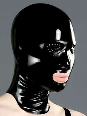 Latex Mask Mouth & Pinhole Eyes Rubber Polymorphe Latex Mask With Back Zip A-05