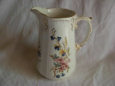 SARREGUEMINES,ANTIQUE FRENCH PITCHER,RIGHI MODEL,LATE 19th CENTURY.
