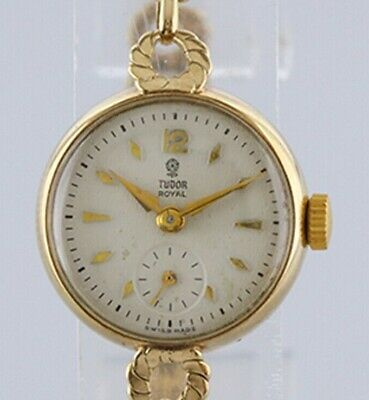 Vintage Tudor Royal 9ct yellow gold ladies manual watch (Rolex strap mechanical)