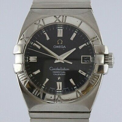 Omega Constellation Double Eagle Perpetual Calendar Stainless Steel Quartz Watch