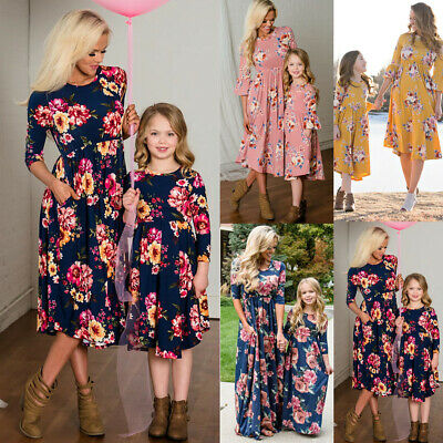 706ed8f4f736 Mother Daughter Family Matching Dress Mommy and Me Floral Maxi Dresses  Outfits