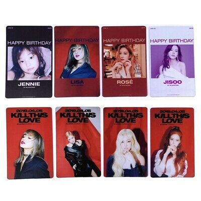 4pcs Kpop BLACKPINK Transparent Photocards KILL THIS LOVE New Album Photos US