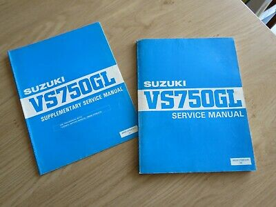 Original service manual Suzuki  VS750GL + Supplement  1985
