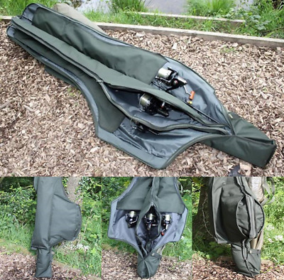 Saber Supra Green 3 Rod Holdall Ultimate Protection 12ft Made Up Carp Rods Reels