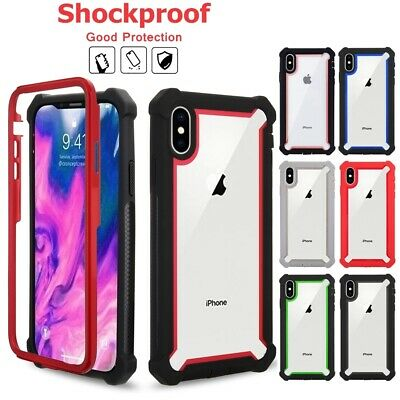 For iPhone 11 Pro MAX X XR XS 7 8 Clear Case Cover Shockproof Heavy Duty Hybrid