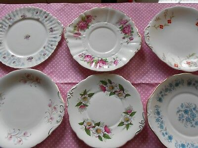 Vintage Cake Plates Selection X 6 English Bone China Weddings/ Tea Rooms