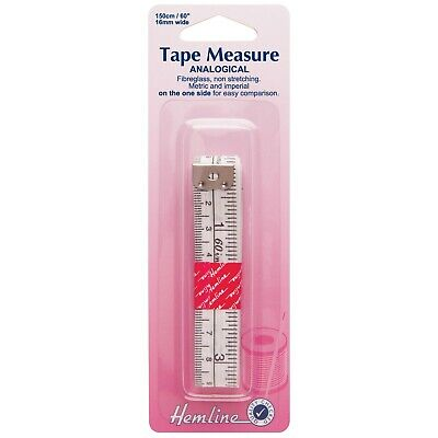Hemline Analogical Metric/Imperial Tape Measure 150cm