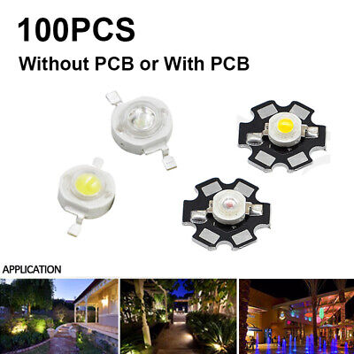 100X 3W LED Bulb Diodes Lamp Wholesale Lot With Star PCB High Power LED COB Chip