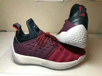 887d55c1ae5c ADIDAS James Harden Vol. 2 Ignite Maroon Basketball Sneakers Shoes AH2124