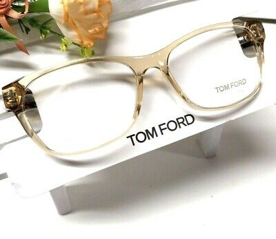 f2ad231e087 Tom Ford optical frame women soft square cateye thin clear yellow havana  Tf5405