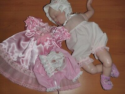 Craftymals  Pretty  5  Piece  Dress Set For Reborn Dolls   20 - 22  Inches