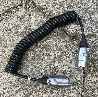 Gwaza Farm Power - Trailer Curly Extension Cable - Metal 7 Pin - 1.5m to 3m