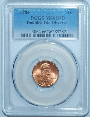 1984 PCGS MS66RD FS-101 Red DDO Double Ear Doubled Die Obverse Lincoln Cent