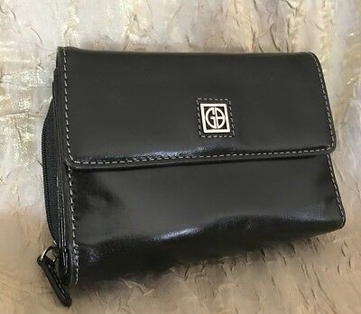 GIANI BERNINI~Black~Genuine Leather Single Fold~Ladies Wallet~EC