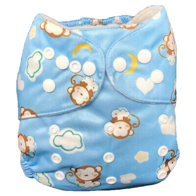 IXYVIA Baby Cloth Diapers Resizable Adjustable Washable Pocket Nappies #7