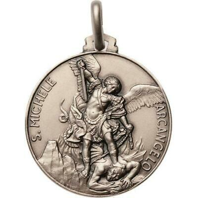 St. Michael Archangel MEDAL -925 STERLING SILVER -Patron Saint Police Officers