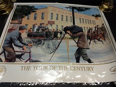 Horseless Carriage Tour of the Century, Signed & Numbered Print, Ken Eberts 1996