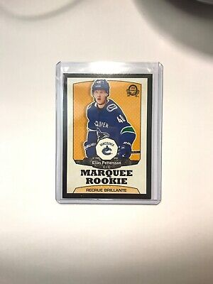 """Rare! Elias Pettersson 2018/19 O-Pee-Chee Update """"Black"""" Marquee Rookie #023/100"""
