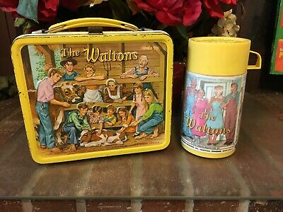 The Waltons Metal Lunch Box, with Thermos  Vintage 1973  GC