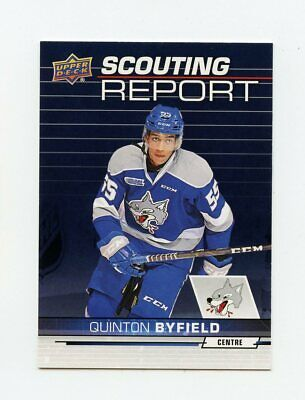 18/19 Upper Deck Chl Scouting Report #Sr-2 Quinton Byfield Sudbury Wolves *62866