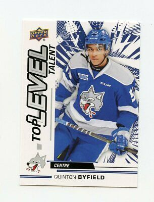18/19 Upper Deck Chl Top Level Talent #Tl-15 Quinton Byfield Wolves *62899
