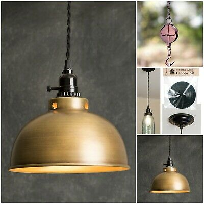 Antique Brass Rustic Pendant Light Ceiling Lamp Industrial Small Lighting New