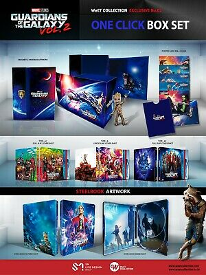 Guardians of the Galaxy Vol. 2 3D+2D Blu-ray SteelBook WeET Exclusive One Click