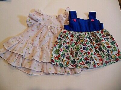Pretty 2pc LOT 14 15 in baby doll summer Jumper ruffles dresses clothes